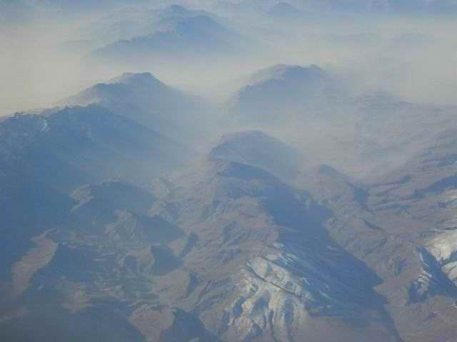 Afghanistan, viewed from above