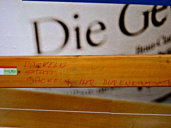 'Hackeln statt backeln, ihr Hurenkinder', Wien, 16. Bezirk