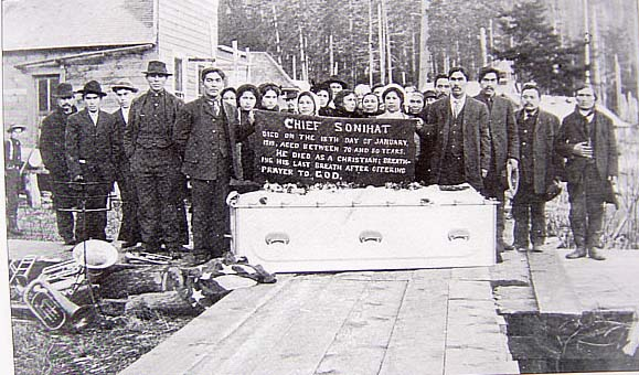 Chief Sonihat died as a Christian, 1912